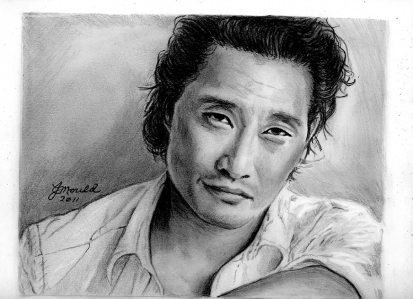 portrait of daniel dae kim by jojemo on stars portraits